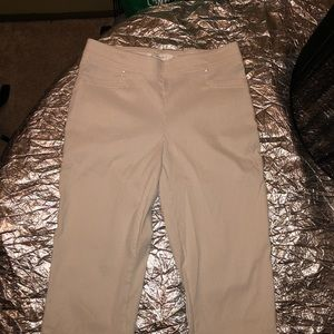 Cream/Tan 89th & Madison Slim Trousers Size S